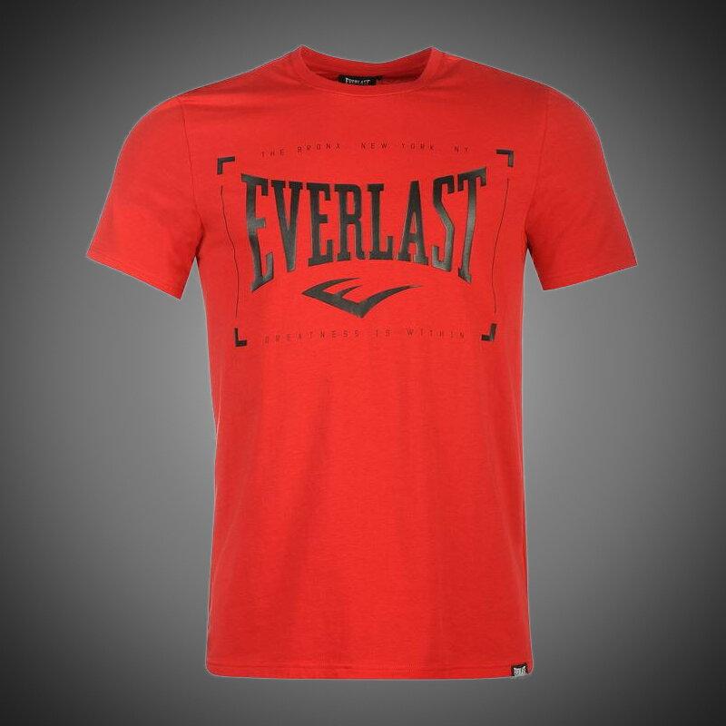 Pánské tričko Everlast Border red 7379bc530f