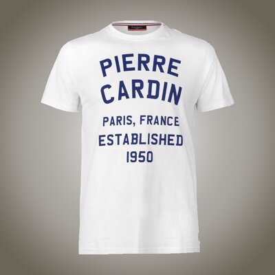 Pánské tričko Pierre Cardin France Established white