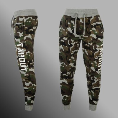 Tepláky TAPOUT Camouflage dark
