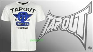 Tričko TAPOUT Fight Training white