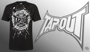 Tričko Tapout Fight For It black